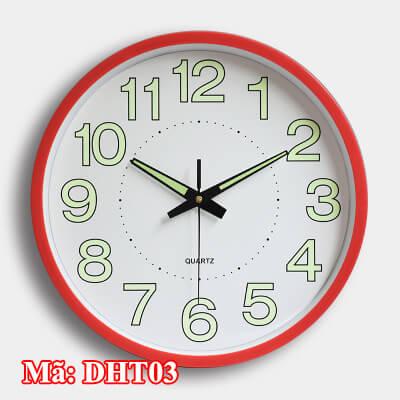đồng hồ treo tường dạ quang